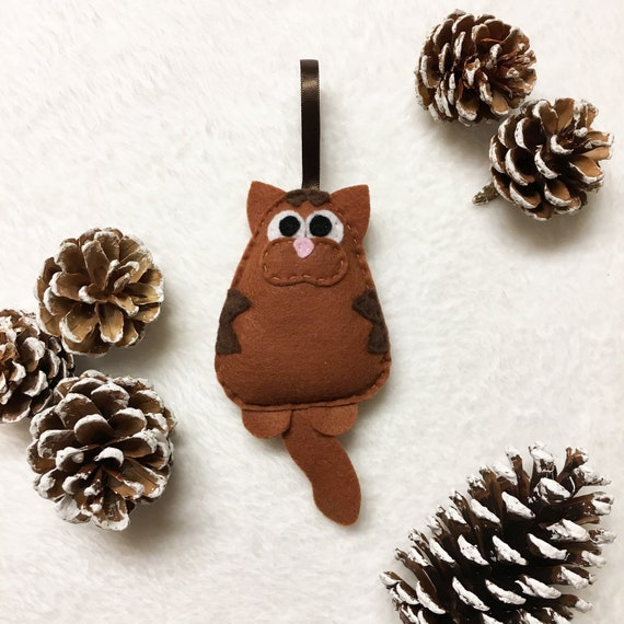 Cat Ornament, Christmas Ornament, Tabby Ornaments,  Lennon the Cat