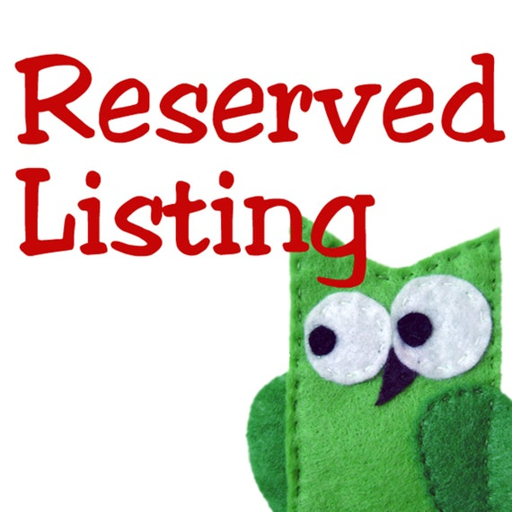 Reserved Listing for Ana