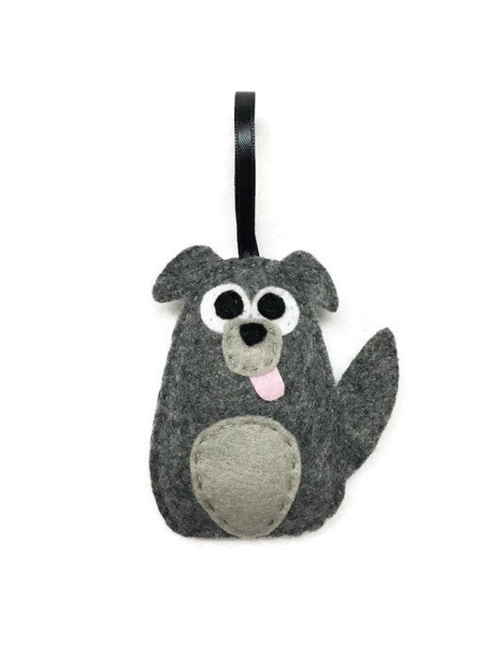 Dog Ornament, Puppy Christmas Ornament, Diesel the Mutt, Felt Ornament, Felt Animal, Holiday Decoration, Plush Dog Babys First Ornament