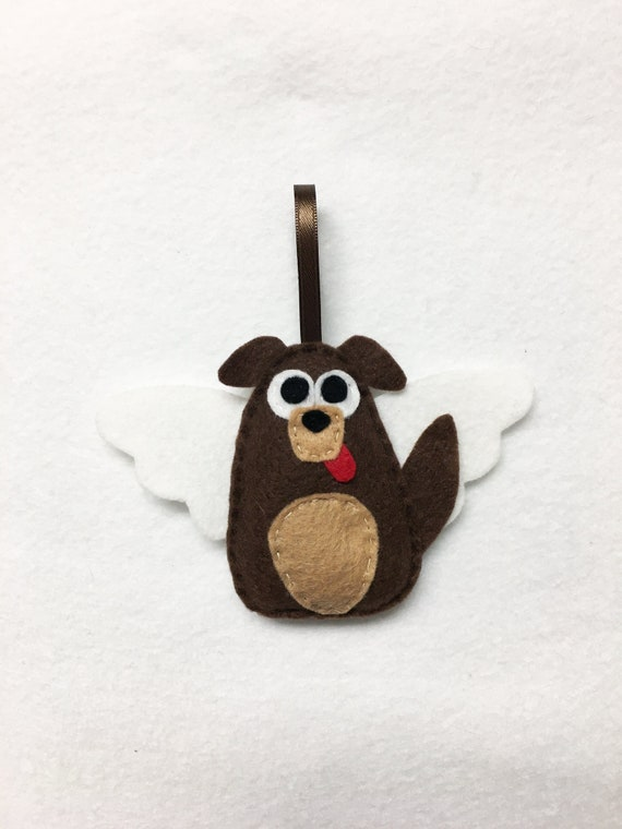 Dog Angel Ornament, Puppy Christmas Ornament, Cullen the Mutt with Angel Wings