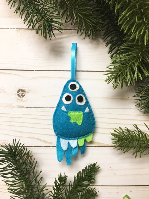 Monster Ornament, Christmas Ornament, Donald the Drippy Monster
