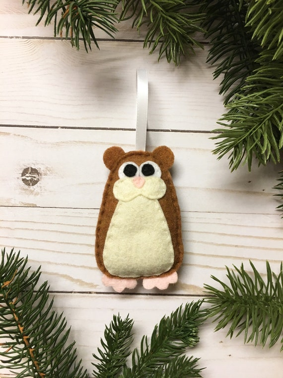 Hamster Ornament, Christmas Ornament, Hammy the Hamster - Made to order