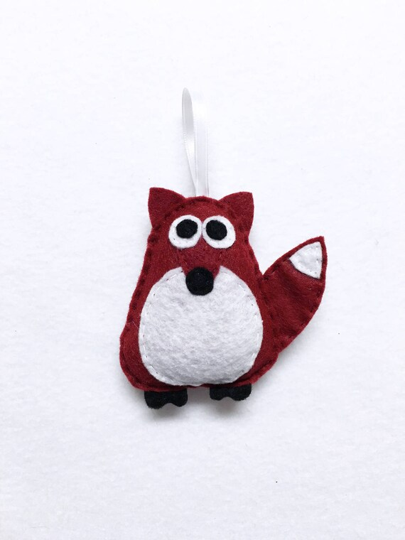 Fox Ornament, Ornament, Christmas Ornament, Rupert the Brick Red Fox, Felt Animals, Gift Toppers, Secret Santa Gift, Woodland Animal