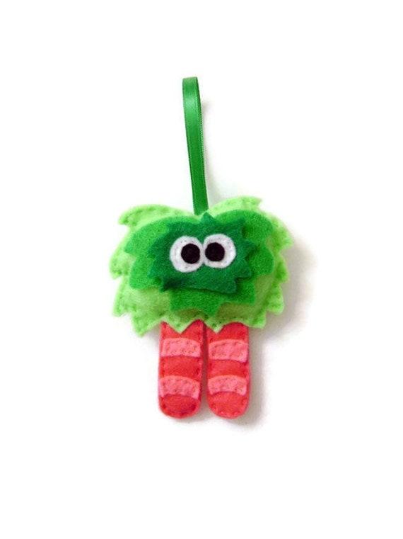 Monster Ornament, Christmas Ornament, Ornament, Mumsy the Mumsy Monster, Felt Monster