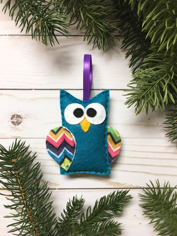 Owl Ornament, Christmas Decoration - Roz the Owl