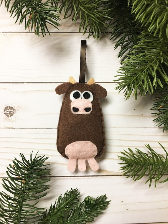 Cow Ornament, Christmas Ornament, Ellie the Cow