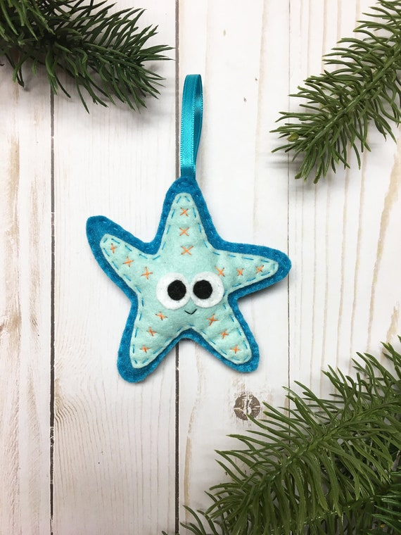 Starfish Ornament, Christmas Ornament, Deshawna the Starfish