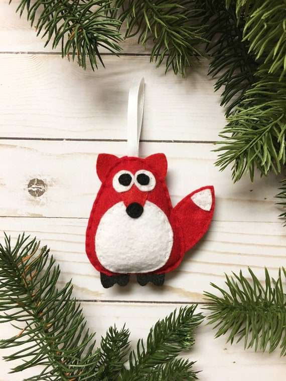 Fox Ornament, Christmas Ornament, Andy the Red Fox