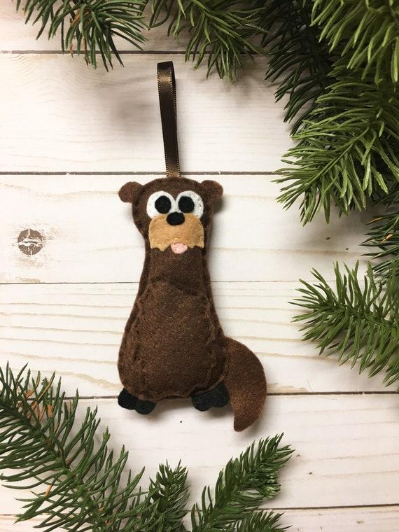 Otter Ornament, Christmas Ornament, Otto the Otter