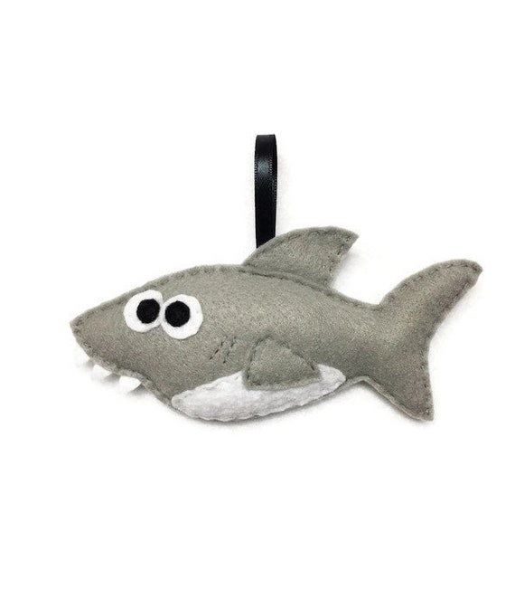 Shark Ornament, Christmas Ornament, Stephen the Shark - Made to Order