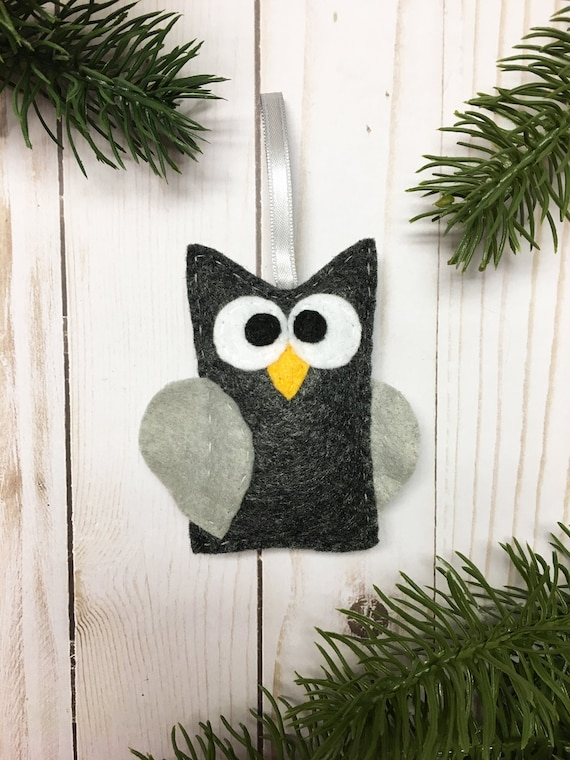 Owl Ornament, Halloween Ornament, Christian the Owl