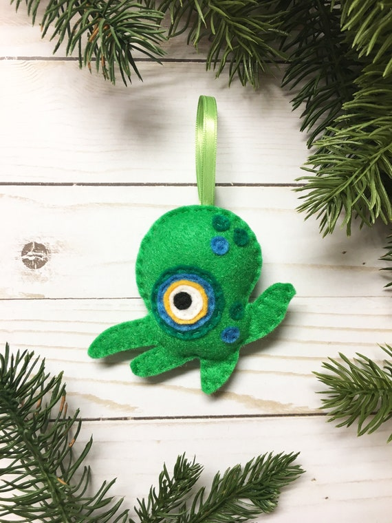 Monster Ornament, Christmas Ornament, Paul the Tentacle Monster