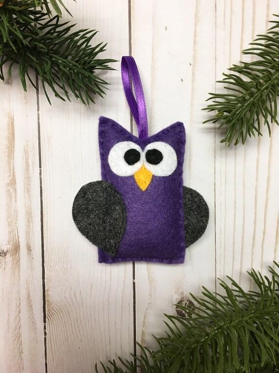 Owl Ornament, Halloween Ornament, Cruella the Purple Owl