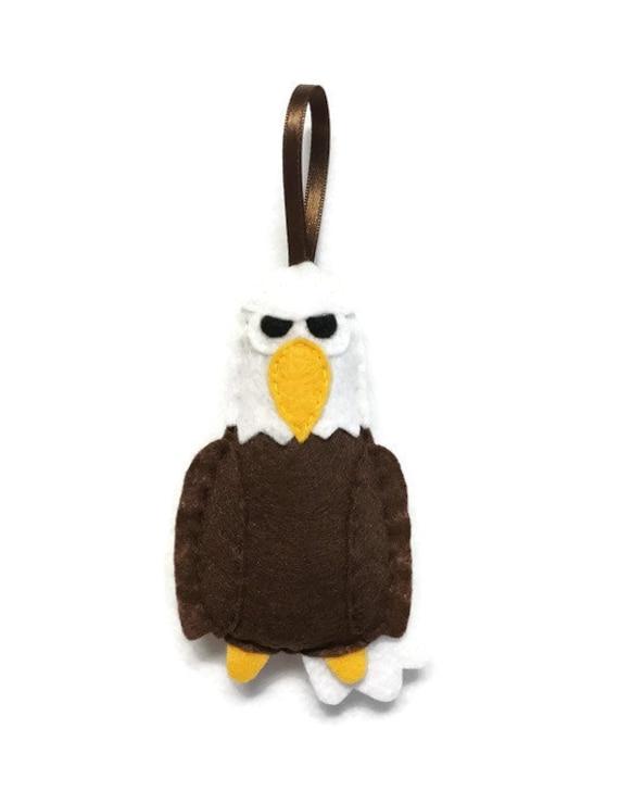 Eagle Ornament, Christmas Ornaments, Wayne the Eagle, Felt Animal, Holiday Decoration
