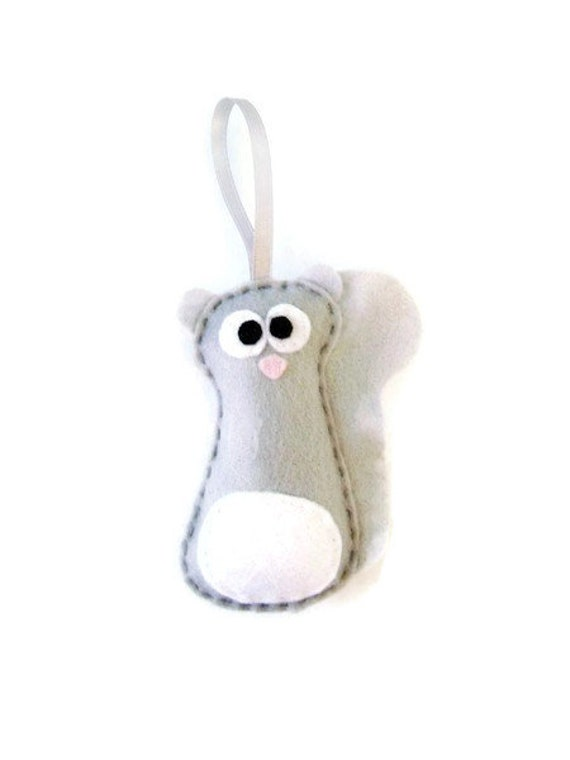Felt Christmas Ornament - Sammy the Gray Squirrel