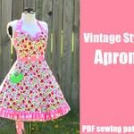 Vintage Style Retro Apron - Printable PDF Pattern