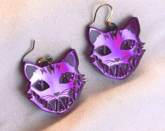 Cheshire Cat earrings - Alice in Wonderland