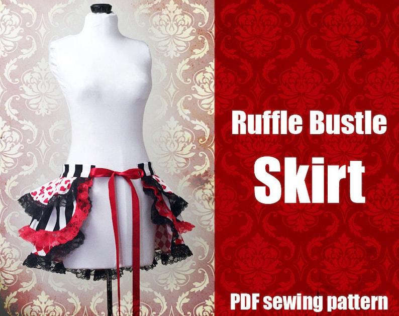 Ruffle Bustle Skirt  Printable PDF Pattern XS  2X image 0