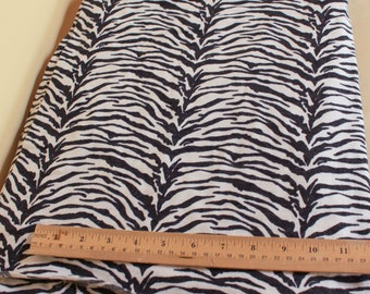 black and white zebra sweater knit stretch fabric