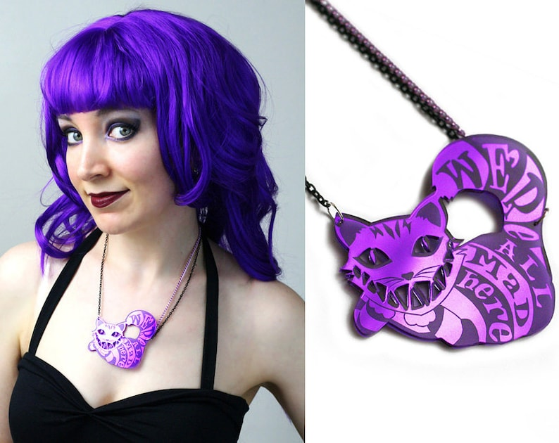 Cheshire Cat necklace  Alice in Wonderland image 0