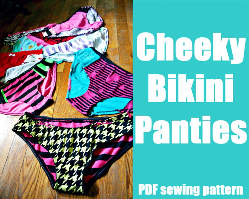 Cheeky Bikini panties or swim suit bottoms  WhatTheCraft image 0