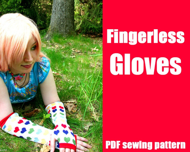 Fingerless Gloves or Armwarmers  WhatTheCraft Printable PDF image 0