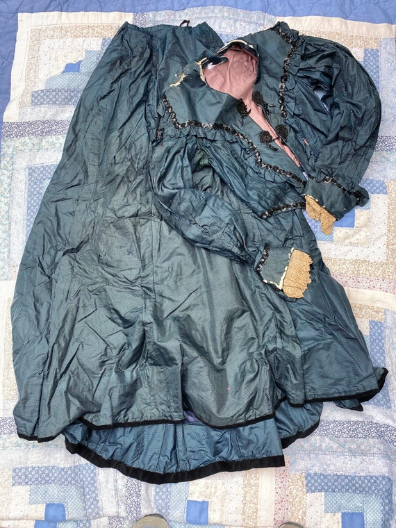 """Victorian / Edwardian bodice and skirt """"as is"""" - image 1"""