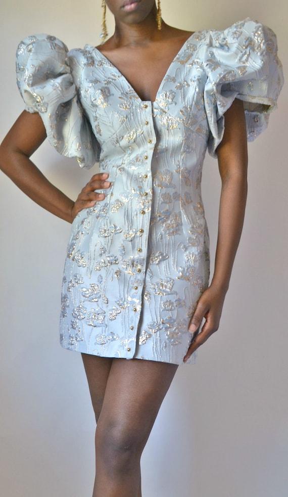 Lusiya Womens Elegant Chic Lace-up Puff Sleeve Satin Paid Outerwear Corset