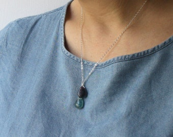 Healing Crystal Necklace . Fluorite Necklace