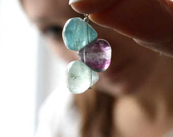 Rainbow Fluorite Necklace for Focus and Clarity