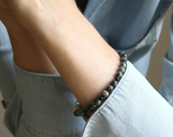 Kambaba Jasper and Black Onyx Bracelet for Grounding and Being Present