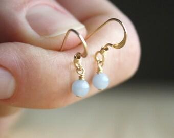 Angelite Earrings in 14k gold fill for Calm