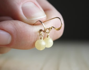 Honey Calcite Earrings for Release and Calm