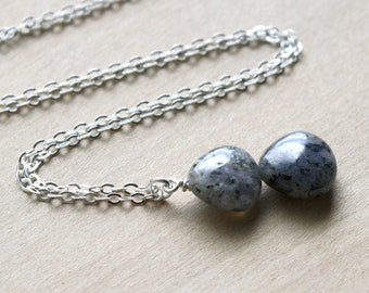 Natural Quartz Necklace in Sterling Silver for Balance and Healing Energy