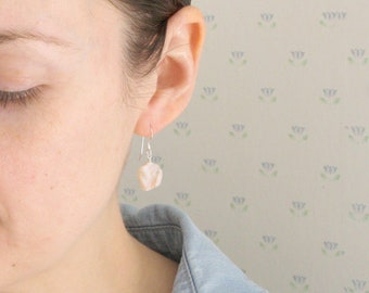 Pink Opal Earrings for Freedom and Independence NEW