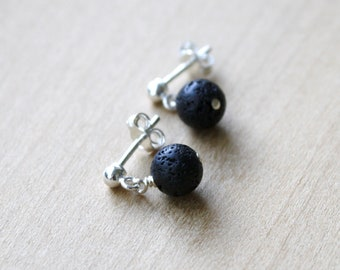 Lava Stone Studs for Grounding and Essential Oil Diffusion
