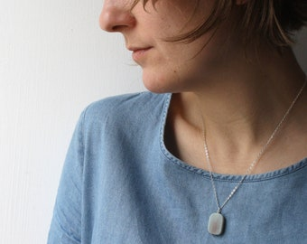 Relaxation Gifts . Blue Quartz Necklace