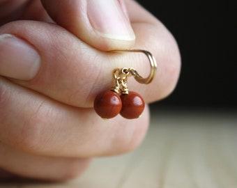 Red Jasper Earrings for Grounding and Strength