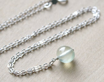 Prehnite Necklace for Harmony and Inner Peace