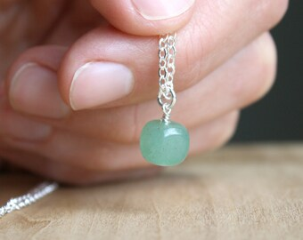 Green Aventurine Necklace for Abundance and Prosperity