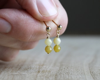 Natural Yellow Opal Earrings for Creativity and Independence