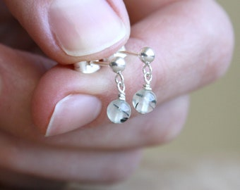 Prehnite Studs for Unconditional Love and Inner Peace