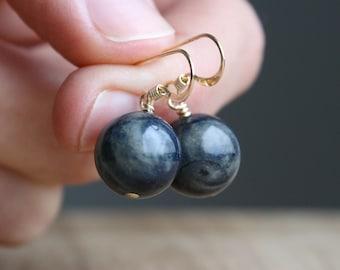 Dumortierite Earrings for Order and Method