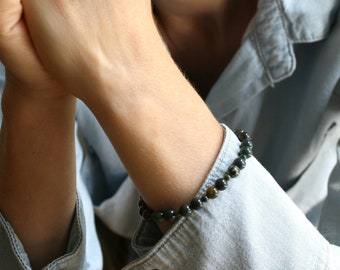 Natural Bloodstone Bracelet for Living in the Present Moment