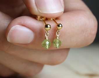 Peridot Studs for Motivation and Energy Cleansing