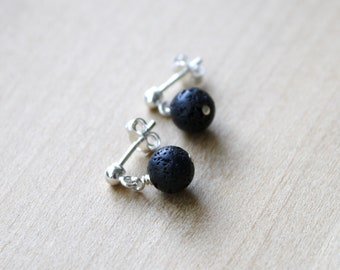 Lava Stone Studs for Connecting to the Earth and Calming Anxieties