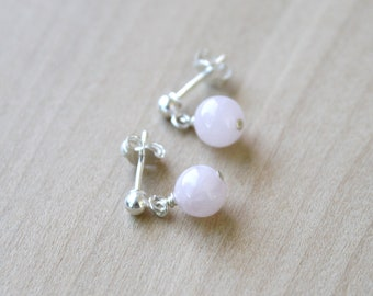 Rose Quartz Studs for Unconditional Love