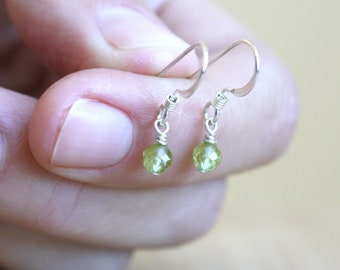 Natural Peridot Earrings for Cleansing and Positive Energy