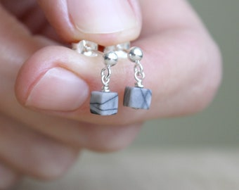 Limestone Cube Studs for Grounding and Positivity
