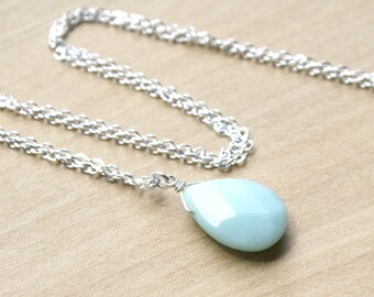 Natural Amazonite Necklace for Soothing Anxiety and Alleviating Worry